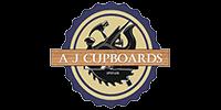 AJ Cupboards logo